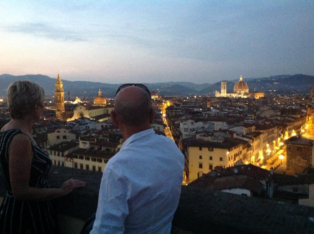 Firenze vista dalla terrazza del museo