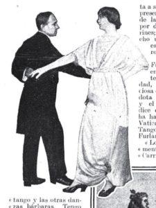 Enrico Pichetti balla la furlana con sua moglie (da Caras y Caretas)